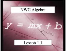 NWC Algebra