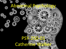 Union College PSY-250-01: Abnormal Psychology