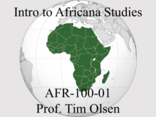 Union College AFR-100-01 Intro to Africana Studies