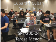 Union College SRS-200-04 Cuba the Cuban Revolution. Spring 2017