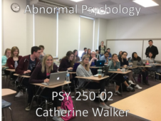 Union College PSY-250-02 Abnormal Psychology. Spring 2017